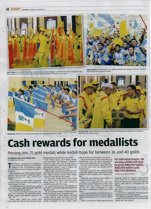 Flag Handover Ceremony 2012 in Conjunction with 15th Malaysia Games, Pahang 2012