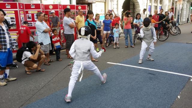 Fencing demo