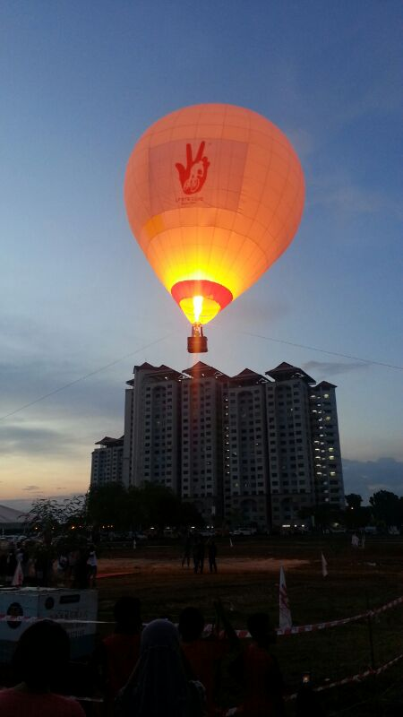 Hot air balloon that was an attraction to visitors especially photography enthusiasts
